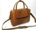 Slim Leather Laptop Shoulder Bag