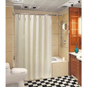 Striped White Shower Curtain