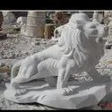 Handmade Marble Lion Statue