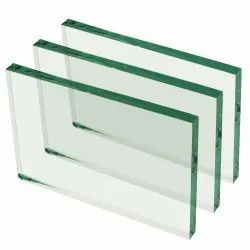 Rectangular Saint Gobain Decorative Float Glass, Thickness: 12 mm