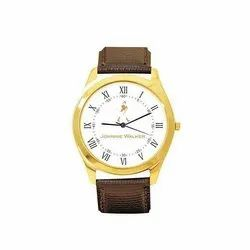 Black & Brown Leather Promotional Watches, Size: Medium, Packaging Type: Box