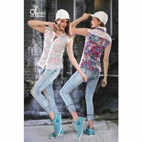 de85f2bfa Cotton Formal Ladies Jeans & Top, Size: S , M & L, Rs 450 /piece ...