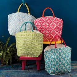 College Jute Designer Hand Bag, Size: 2-5 Kg