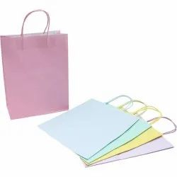 Plain Colored Paper Gift Bag, Capacity: 3-5 Kg, For Gifting