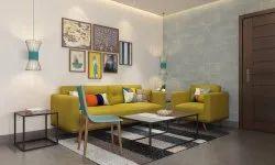 Wooden Modern Living room sofa set, 3+1