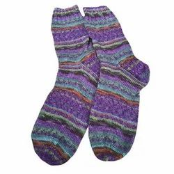 Woollen Unisex Hand Knitted Sock, Size: Calf Length
