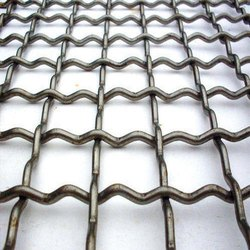 Mild Steel woven Crimped Wire Mesh, For Industrial