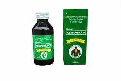 塑料祛痰剂resorex-Cr,用于干咳,瓶尺寸:100毫升