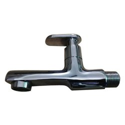 Silver Wash Basin Brass Bib Cock for Bathroom Fitting, Packaging Type: Box