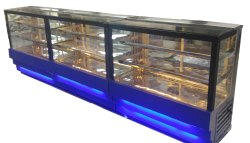 Stainless Steel Display Counter, Thickness: 26 inch