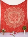 Red Lotus Ombre Wall Tapestry