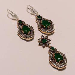 Green Turkish Pendant Set
