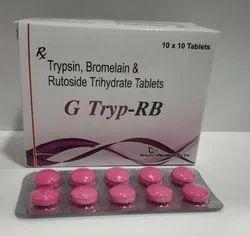 Trypsin 48 mg Bromelain 90 mg Rutoside Trihydrate 100 mg Tablets