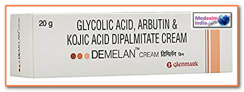 Demelan Cream Glycolic Acid Kojic Acid Hyper Pigmentation