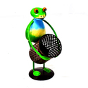 Iron Yoga Frog With Pan Key Holder