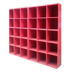 Red Play School Wooden Bookcase
