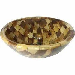 Designer Wooden Bowl Washbasin