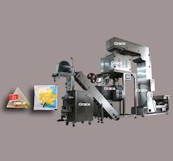 Automatic Pyramid Tea Bag Packing Machine with Outer Envelop
