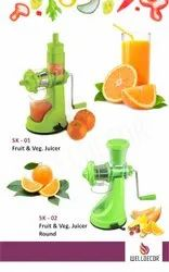 Welldecor Plastic Green Hand Juicer
