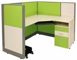 Green Modular Office Furniture, Size: 1500 x 1200 mm