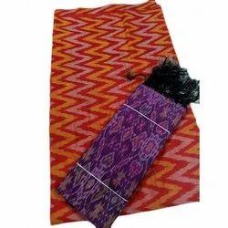 Cotton 44-45 Ikat Dress Material