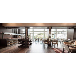 Wooden Restaurant Interior Design Service