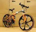 Orange BMW Foldable Cycle