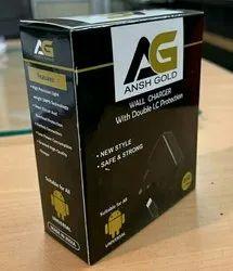 Black Ansh Gold DC Mobile Charger For Keypad Phones