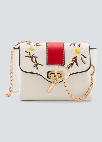 Synthetic Leathe Shoulder Bag Designer Sling Bag With Chain Strap ...