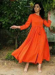 Party Wear Rayon Designer Long Anarkali Suit