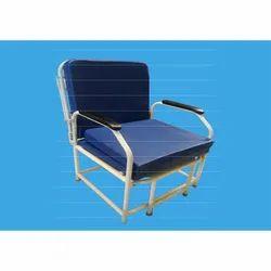 SS Frame Blue Bed Cum Chair, Size: 1730mm L X 640mm W