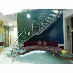 Stylish Glass Stair