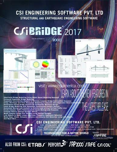 Design And Detailing Software Csi Bridge Software Authorized Retail Dealer From New Delhi