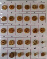 Round, Square Wood ButtoN, For Garments, Packaging Type: Cover