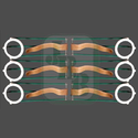 6 Pcs JBB Snooker Plastic Railing Set