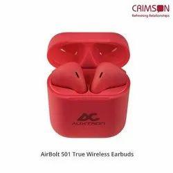 Auxtron Red AirBolt 501 True Wireless Earbuds