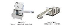 Uniplast Candy Making Forming Machine, Three Way Cooling Conveyor