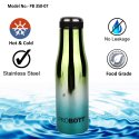 PROBOTT Stainless Steel Double Wall Vacuum Flask Mirror Sports Bottle 350ml PB 350-07