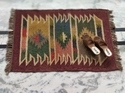 Small Size Kilim jute wool Hand Woven Rug,Small Size Wool Wall Hanging Rug