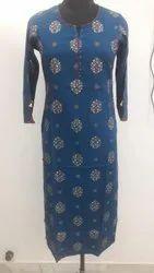 Indian Handmade Kurti Floral Print Women's Dress