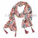 Floral Print Crepe Scarves