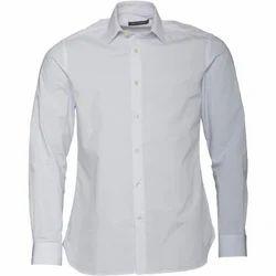 Bharat Garment White Mens Formal Plain Shirt, Size: 38 To 44 Cm