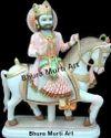 Baba Ramdev Painted Marble Statue