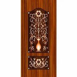 Paper Designer Wooden Door Skin, Glossy, Size: 39 X 84 Inch