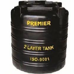 Black Plastic Water Storage Tank