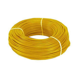 Yellow PVC Electric Wire