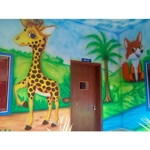 School Jungle Themes Wall Painting Service In Sukhlia Indore Pal