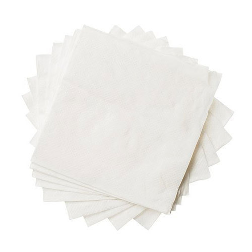 White Plain Table Napkin Paper Size 20 X 20 Cm Rs 25 Packet Id