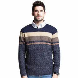 Round Neck Mens Sweater