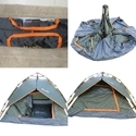 Camping Trekking Outdoor Automatic Tent -3 People-Grey